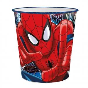 SPIDERMAN UOMO RAGNO cestino spazzatura in plastica h.22,5 dim.21 cm circa