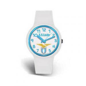 Orologio polso LAZIO ufficiale silicone bianco kid diam.34mm in scatola regalo