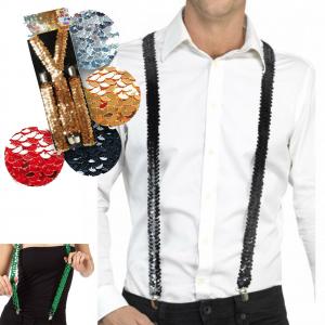 Bretelle in paillettes elasticizzate 5 colori metal per feste spettacoli ballo