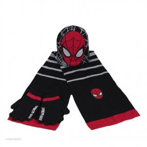 SPIDERMAN UOMO RAGNO cappello + sciarpa + guanti taglia unica da bambino