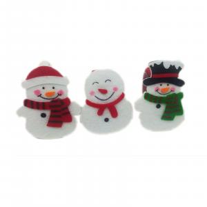 NATALE DECORAZIONE portatovaglioli fermaposto set 3 pupazzi di neve