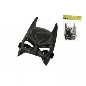 Maschera a pipistrello in plastica dura nera halloween party e feste da adulto