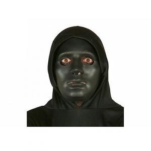 Maschera nera in plastica dura nera halloween party e feste da adulto