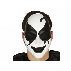 Maschera arlecchino killer in plastica halloween party e feste