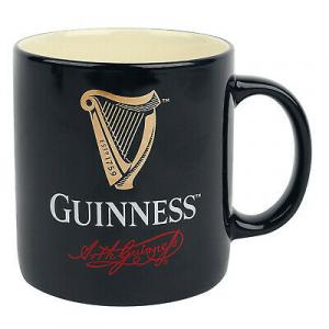 Boccale Guinness Beer Tazza in ceramica Nera firma Arthur Guinnes idea regalo