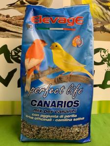 CANARIOS con Perilla-Camelina-Erbe officinali2,5kg