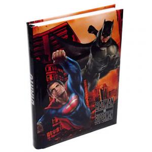 Diario scuola SUPERMAN VS BATMAN NERO 13,5x18,5  cm