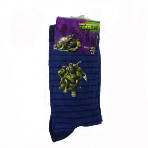 TARTARUGHE NINJA 1 paio di calzini blu a righe disegno applicato varie taglie
