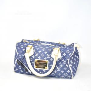 Borsa Imitazione Louis Vuitton Tessuto Blu