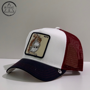 Goorin Bros - Animal Farm Truckers - Nuts, bianco, bordeaux, blu.