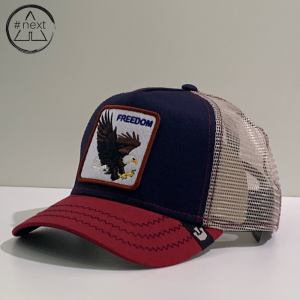 Goorin Bros - Animal Farm Truckers - Freedom, blu, bordeaux.
