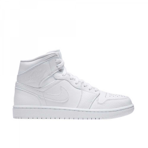 Jordan Air Mid 1 Total White da Uomo