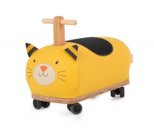 Gatto cavalcabile con ruote di Moulin Roty