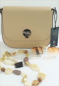 Borsa beige in vera pelle. Made in Italy | Borse online