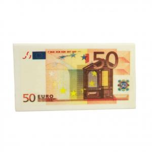 Gomme da cancellare a BANCONOTA 50 EURO collezionale tutti  circa 6,5X3,5 cm