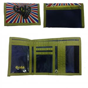 GOLA portafoglio in stoffa multicolor con strappo 14x9 cm da uomo/ragazzo