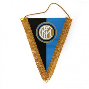 gagliardetto INTER prodotto ufficiale raso stampato nero azzurro logo centrale