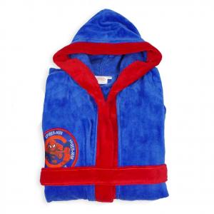 SPIDERMAN UOMO RAGNO accappatoio blu e rosso in spugna di cotone da bambino vari
