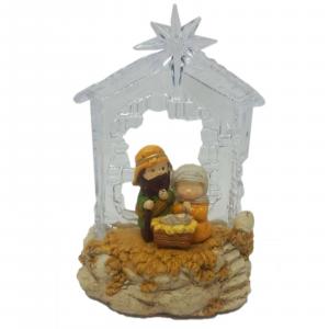 NATALE carillon natività decorazione natalizia funziona con batterie non incluse