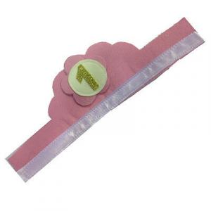 1 ANNO coroncina rosa da bambina in feltro con numero glitter 10x60 cm