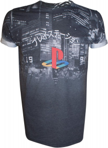 Playstation Sublimination T-shirt City Landscape (M) (Abbigliamento)
