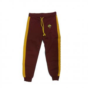 ROMA pantalone tuta rosso in cotone garzato con stemma applicato varie taglie