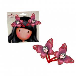 Santoro Gorjuss fermagli click clack bambina idea regalo confezione da 2 pezzi