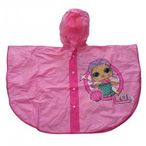 Mantella poncho LOL SURPRISE in PVC ripara pioggia bambina pratica comoda