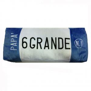 PAPA' cuscino peluches a forma targa auto bianco azzurro 6 GRANDE circa42X17X9cm