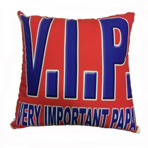 PAPA' cuscino da arredo V.I.P VERY IMPORTANT PAPA' circa 34x34 cm