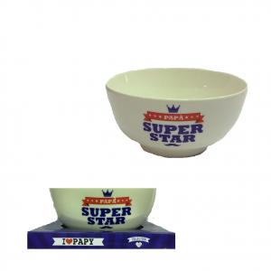 PAPA' tazza colazione mug in ceramica bianca SUPER PAPA' i love papi 13x6,5 cm