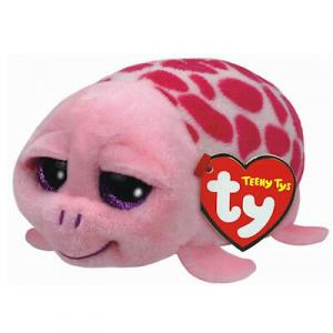 Peluches TEENY TY SHUFFLER tartaruga con pulisci schermo sulla pancia 9X6,5 cm