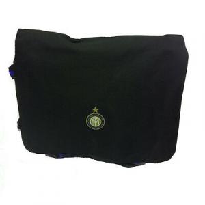 INTER tracolla scuola e tempo libero regolabile in stoffa nera 1 tasche38x32x8,5