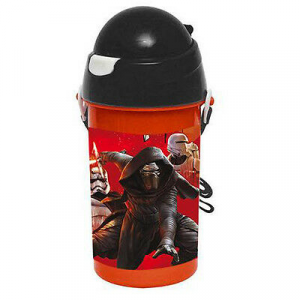 Borraccia con cannuccia retrattile STAR WARS 500 ml con tracollina