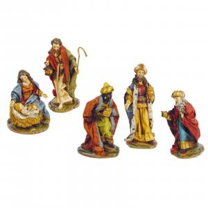 NATALE decorazione natalizia Natività presepe 5 pezzi in resina dimensioni 17 cm