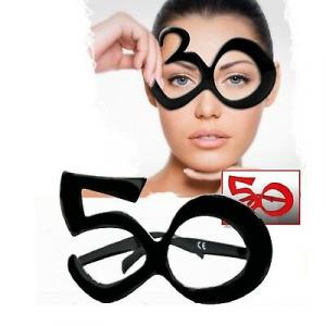 Occhiali scherzosi per compleanno con numero 50