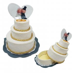 Matrimonio Bomboniere torta-porta confetti-caramelle-porta gioie m. in Italy