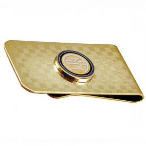 Pinza ferma soldi in metallo con STEMMA INTER in rilievo 2,5x5 cm