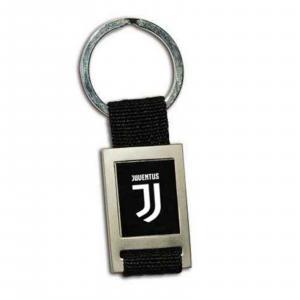 portachiave JUVENTUS  nuovo logo JJ acciaio e cordura