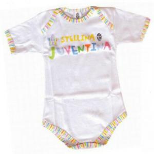 Body neonato JUVENTUS a mezza manica in cotone varie taglie