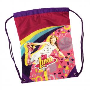SOY LUNA Sacca zaino coulisse in tessuto stampato morbido multicolor 42x30,5 cm