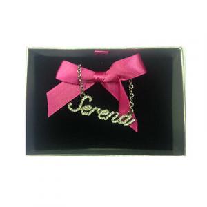 Collana nome SERENA con strass in acciaio 40 cm con scatolina regalo by VIRCA