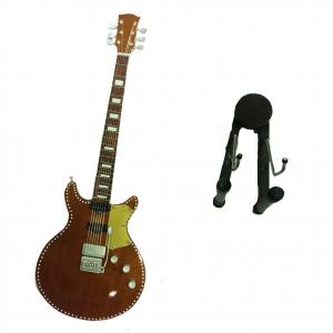 Miniatura chitarra BORCHIATA in legno dipinto con base per appoggiare 25,5cm