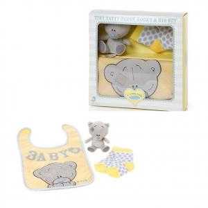 TINY TATTY TEDDY set peluches+calzini+bavaglino neonato idea regalo simpatica