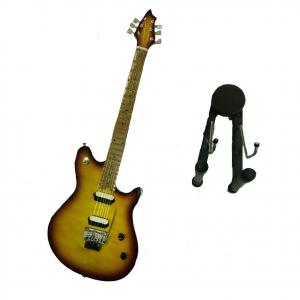 Miniatura chitarra in legno dipinto con base per appoggia 25,5 cm