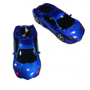 Speaker a auto tipo Lamborghini blu con fari funzionanti  vari colori e radio FM