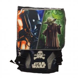 Zaino estensibile scuola STAR WARS 2018 nero stampato+maschera Darth Vader omagg