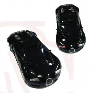 Speaker a auto sportiva nera con fari LED funzionanti  vari colori e radio FM