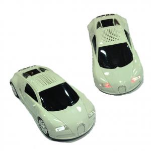 Speaker a auto sportiva bianca con fari LED funzionanti  vari colori e radio FM