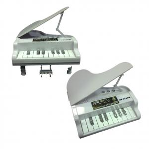 Speaker per musica pianoforte a coda bianco e luci multicolor a LED 18,5x18 cm